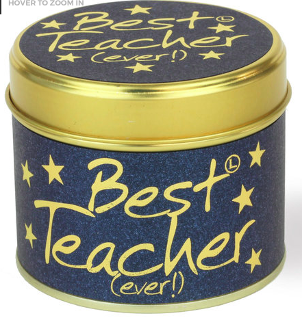 Lily-flame – Best Teacher Ever! Scented Candle Tin