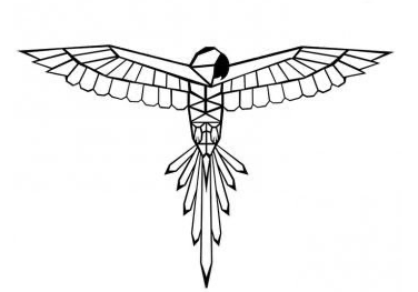 Fabryk design – papagaai - in Wanddecoratie